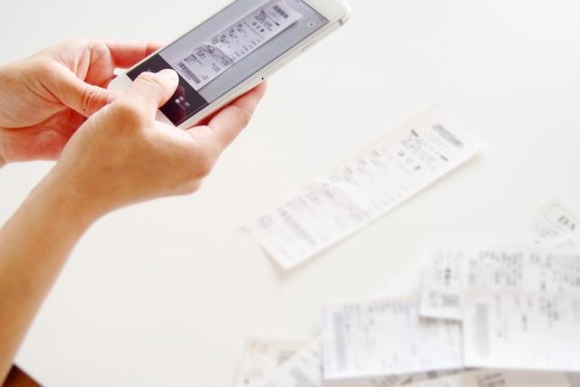 家計簿アプリでレシートを撮影