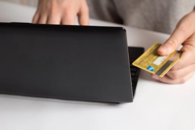 パソコンとカード