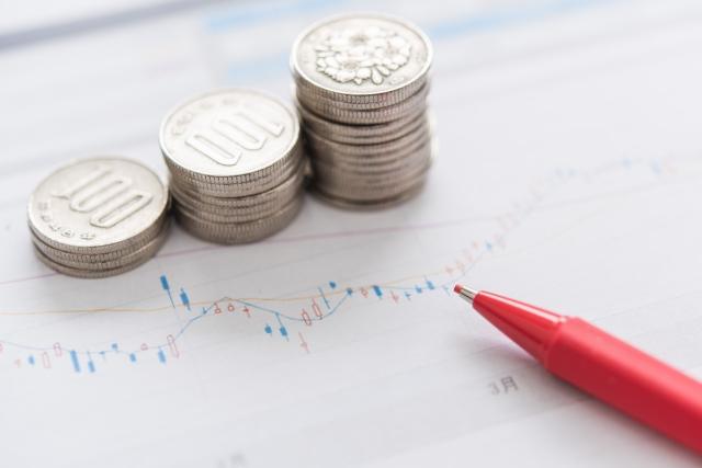 小銭とグラフ